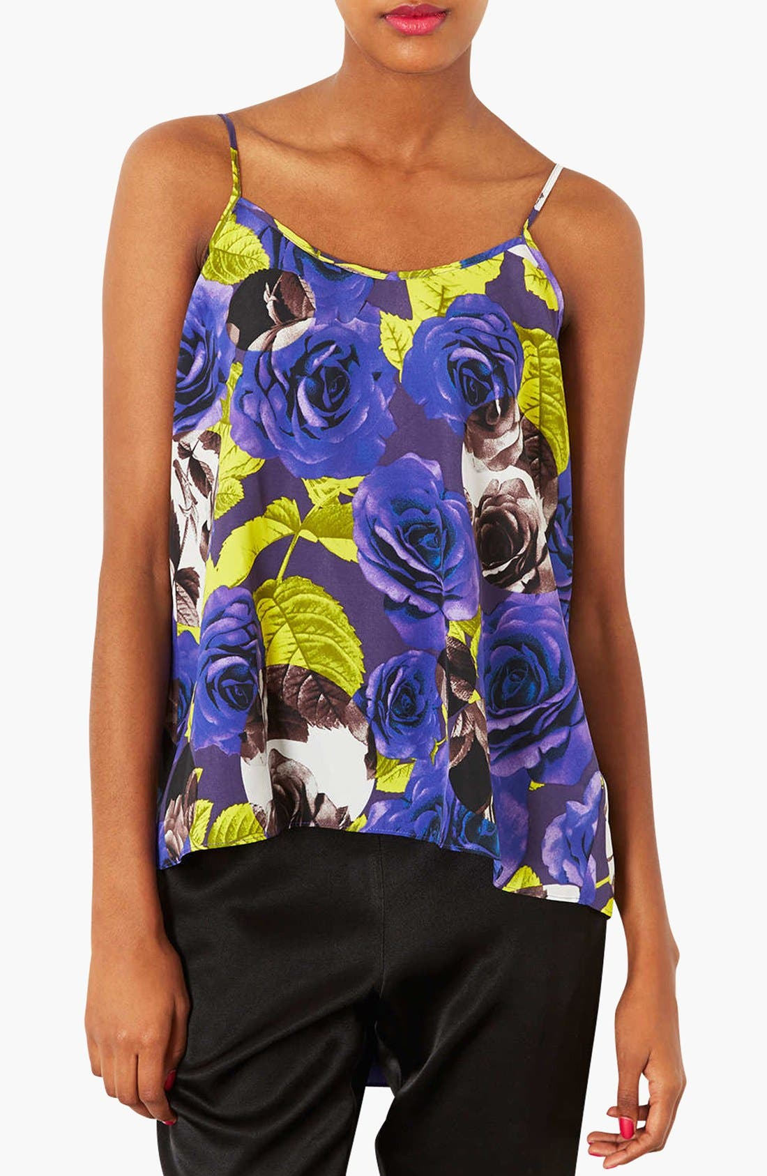 Alternate Image 1 Selected - Topshop Print Fishtail Camisole