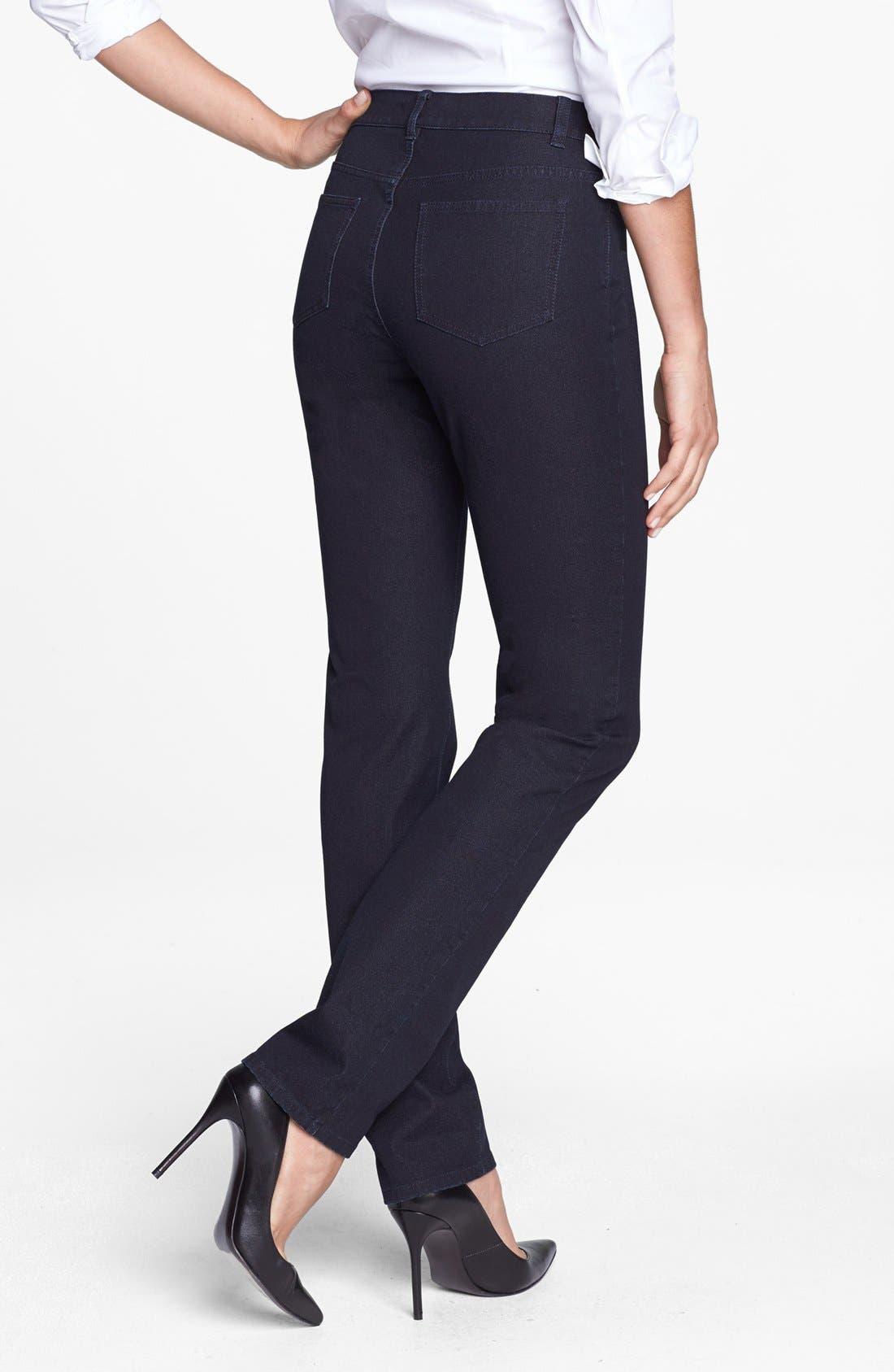 Alternate Image 2  - Lafayette 148 New York Slim Leg Curvy Stretch Jeans