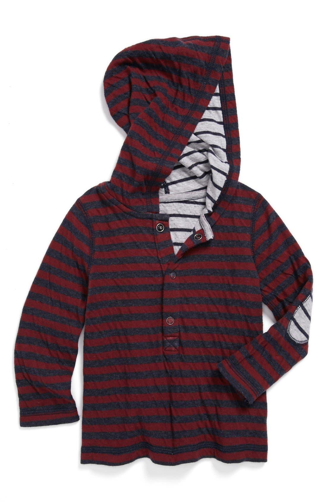 Alternate Image 1 Selected - Tucker + Tate Reversible Long Sleeve Henley Hoodie (Toddler)