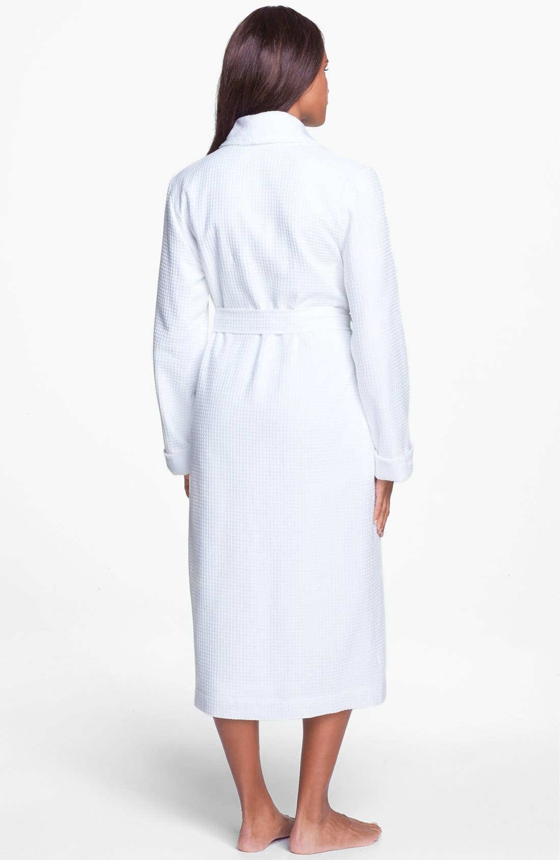 Alternate Image 2  - Nordstrom Lingerie Terry Lined Waffle Robe
