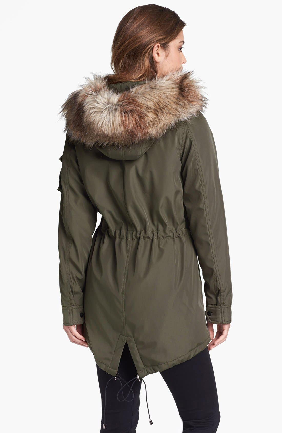 Alternate Image 2  - S13/NYC 'Field Parka' Anorak with Faux Fur Trim