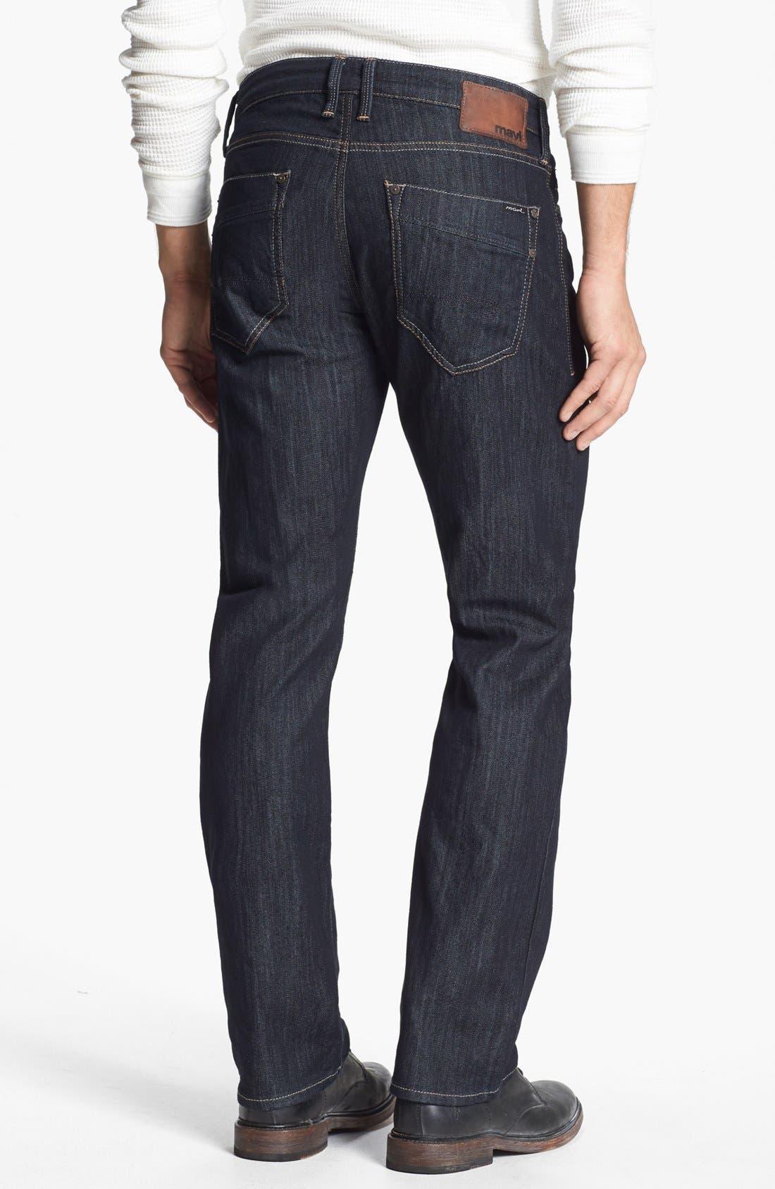 Alternate Image 2  - Mavi Jeans 'Zach' Straight Leg Jeans (Rinse Kensington)