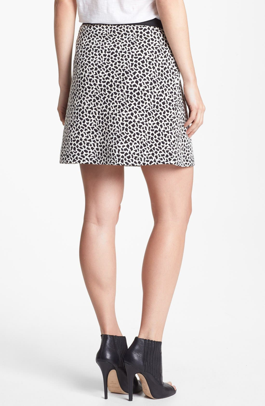 Alternate Image 2  - Two by Vince Camuto Jacquard Miniskirt