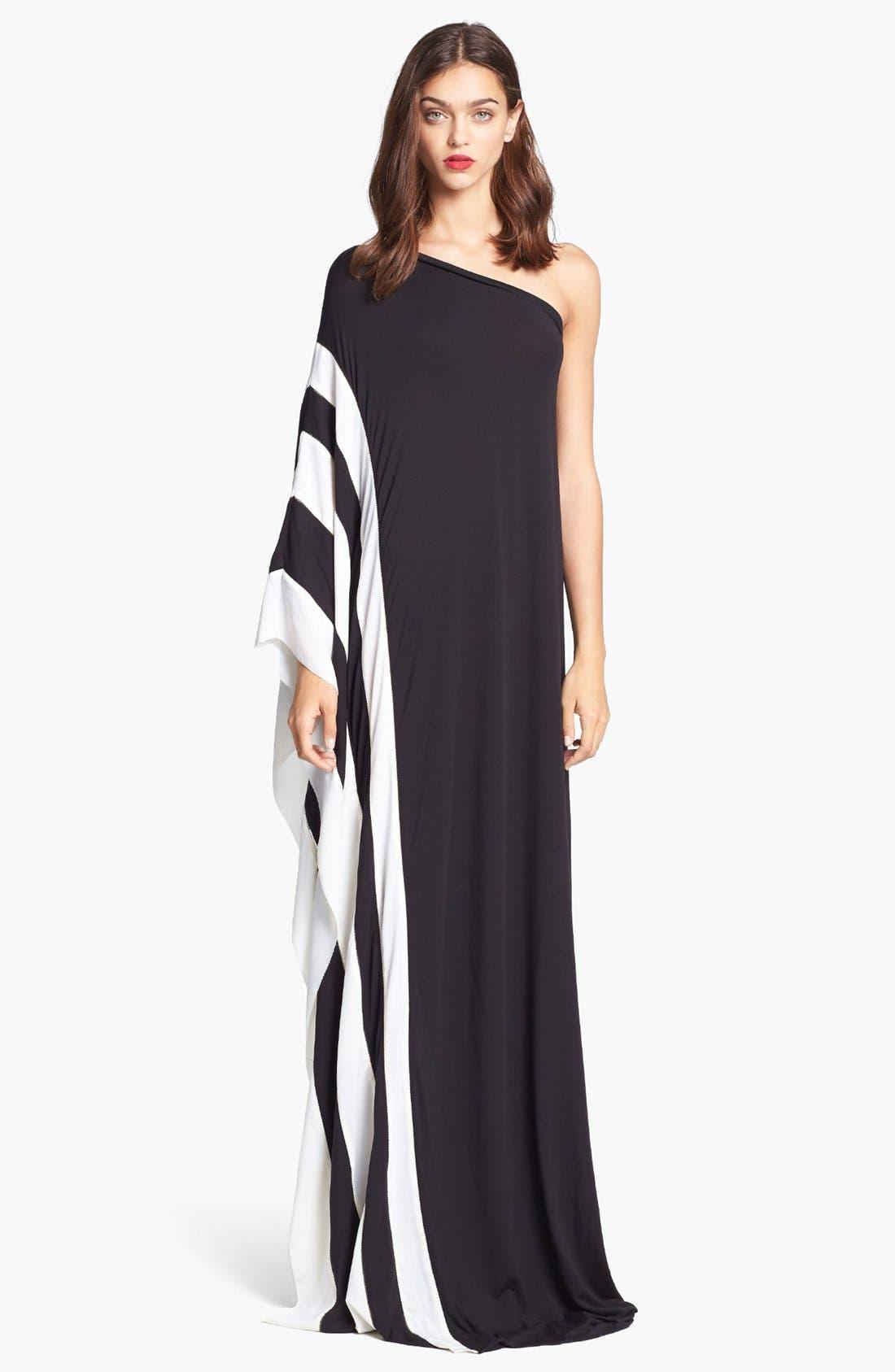 Alternate Image 1 Selected - Rachel Zoe 'Azur' One Shoulder Jersey Maxi Dress