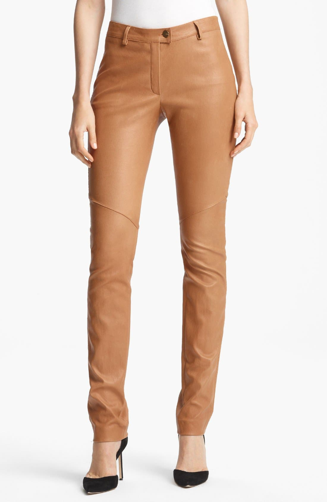 Alternate Image 1 Selected - ESCADA 'Laylah' Stretch Leather Leggings