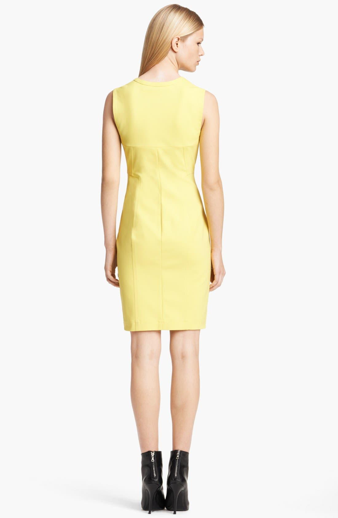Alternate Image 2  - Yigal Azrouël Sleeveless Techno Cotton Dress