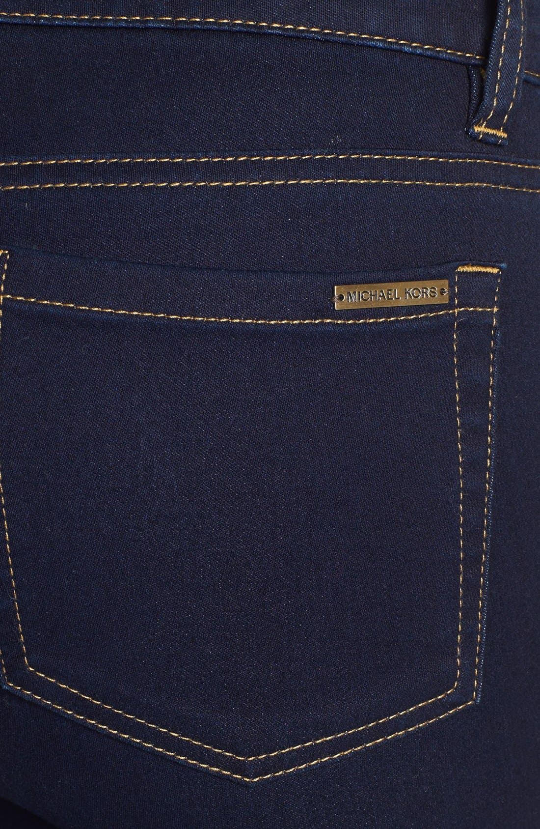 Alternate Image 3  - MICHAEL Michael Kors Stretch Skinny Jeans (Twilight) (Petite)