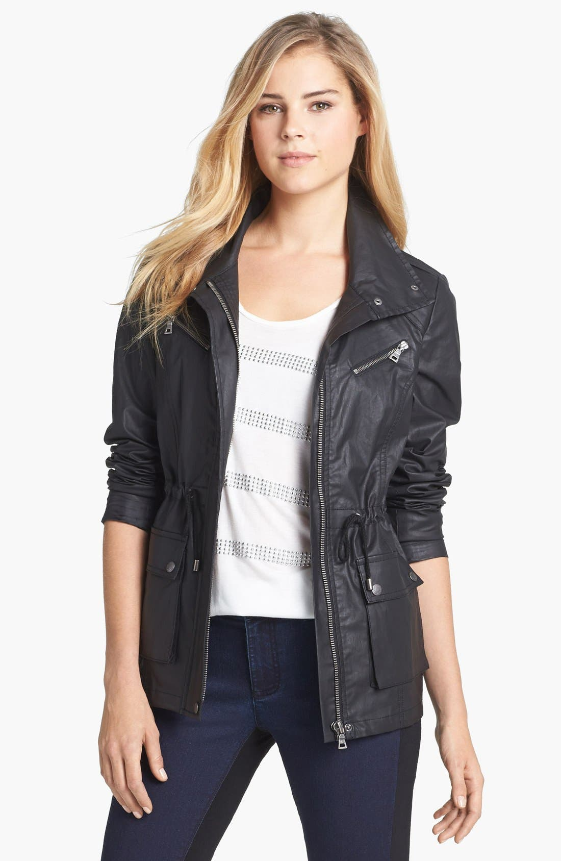 Alternate Image 1 Selected - Two by Vince Camuto 'Urban Safari' Coated Cotton Anorak