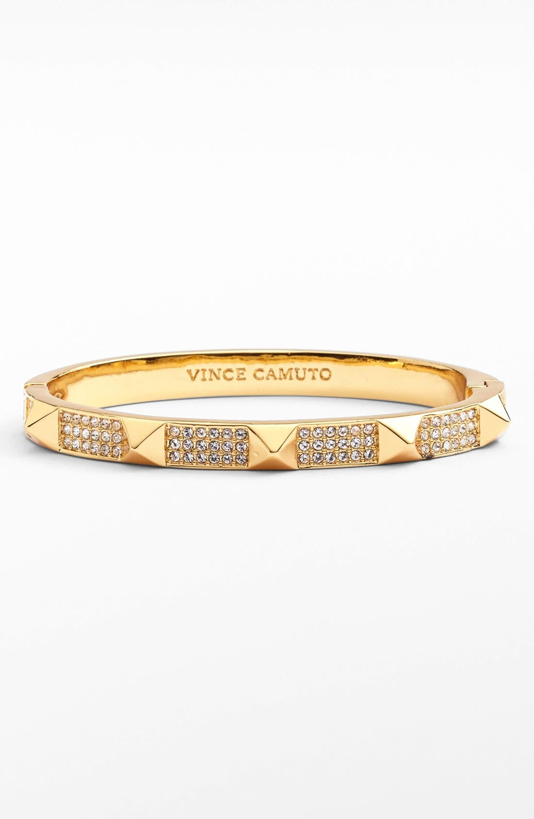 Alternate Image 1 Selected - Vince Camuto Pyramid Stud Pavé Hinge Bangle