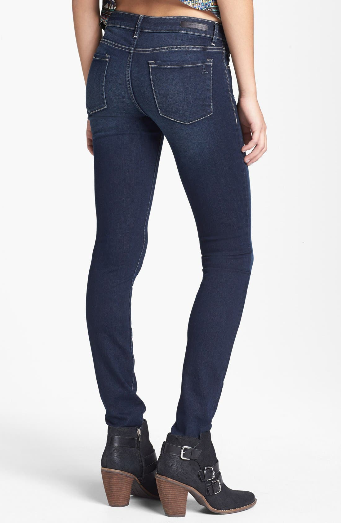 Alternate Image 2  - Articles of Society 'Mya Abyss' Skinny Jeans (Dark) (Juniors)