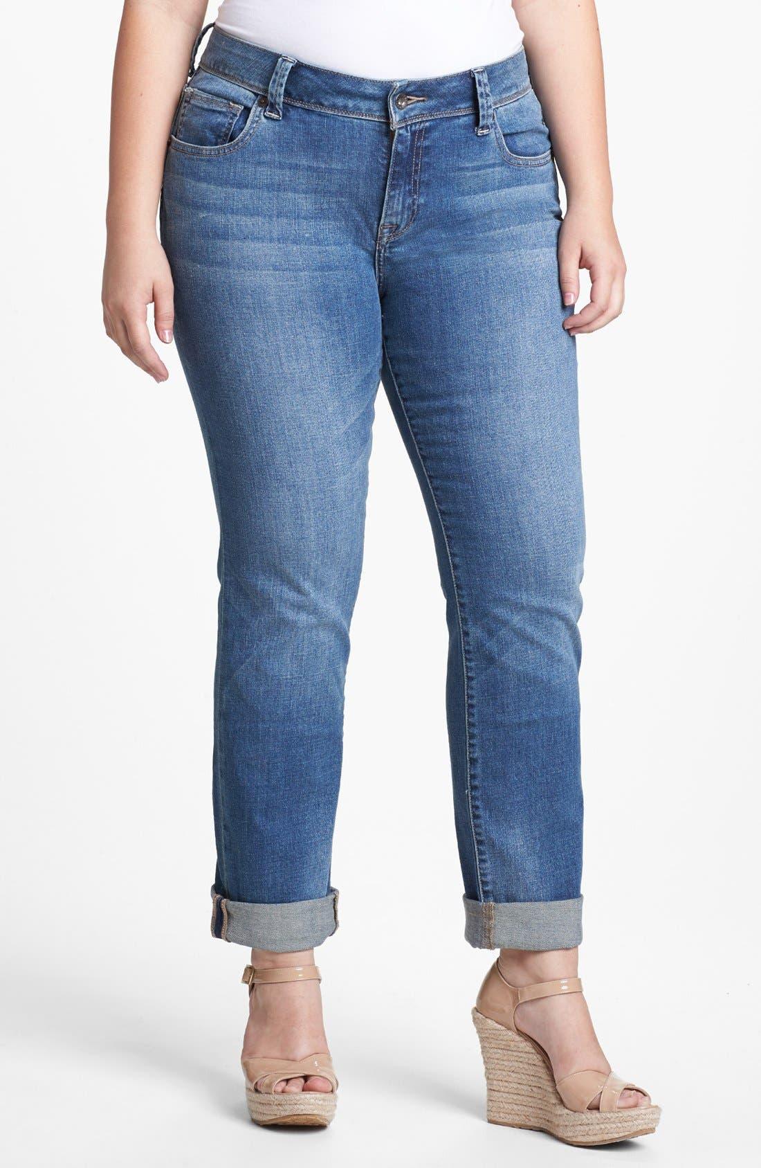 Alternate Image 1 Selected - Lucky Brand 'Ginger' Straight Leg Jeans (Plus Size)