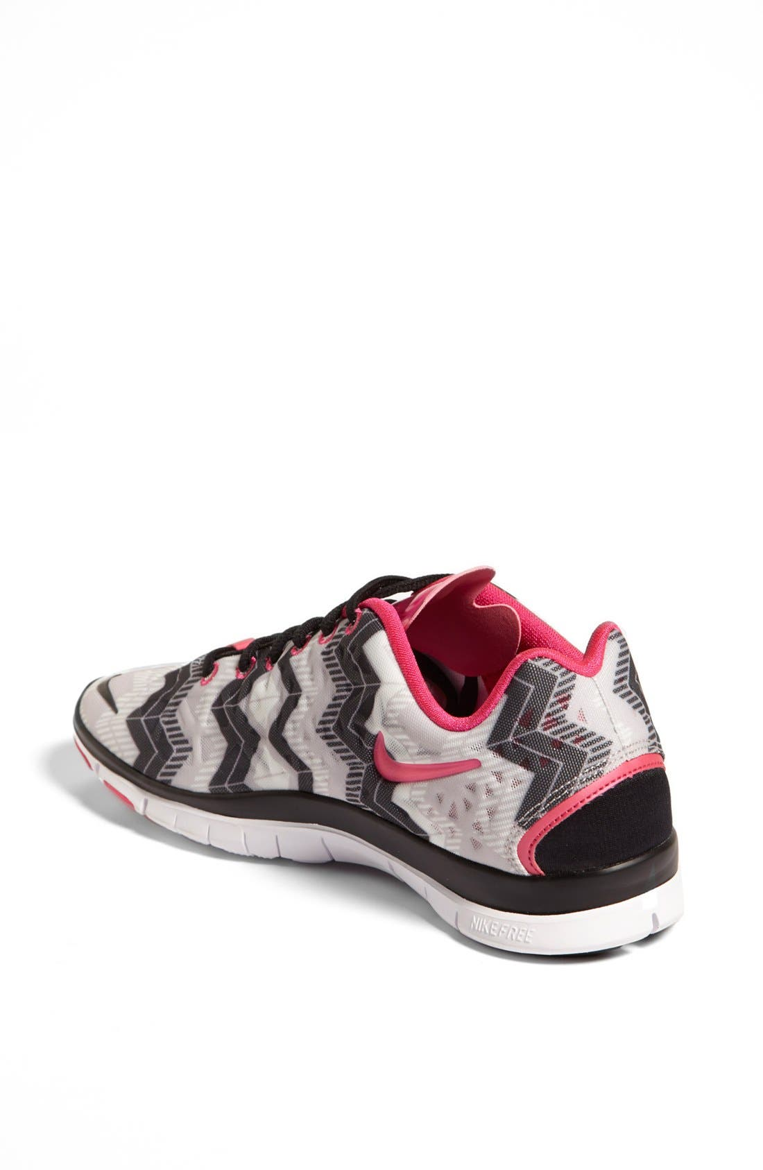 'Free TR Fit 3 Print' Training Shoe,                             Alternate thumbnail 2, color,                             Grey/ Black/ Pink Foil