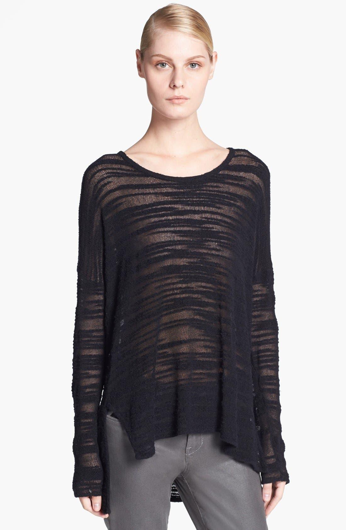 Alternate Image 1 Selected - HELMUT Helmut Lang Destroyed Bouclé Sweater