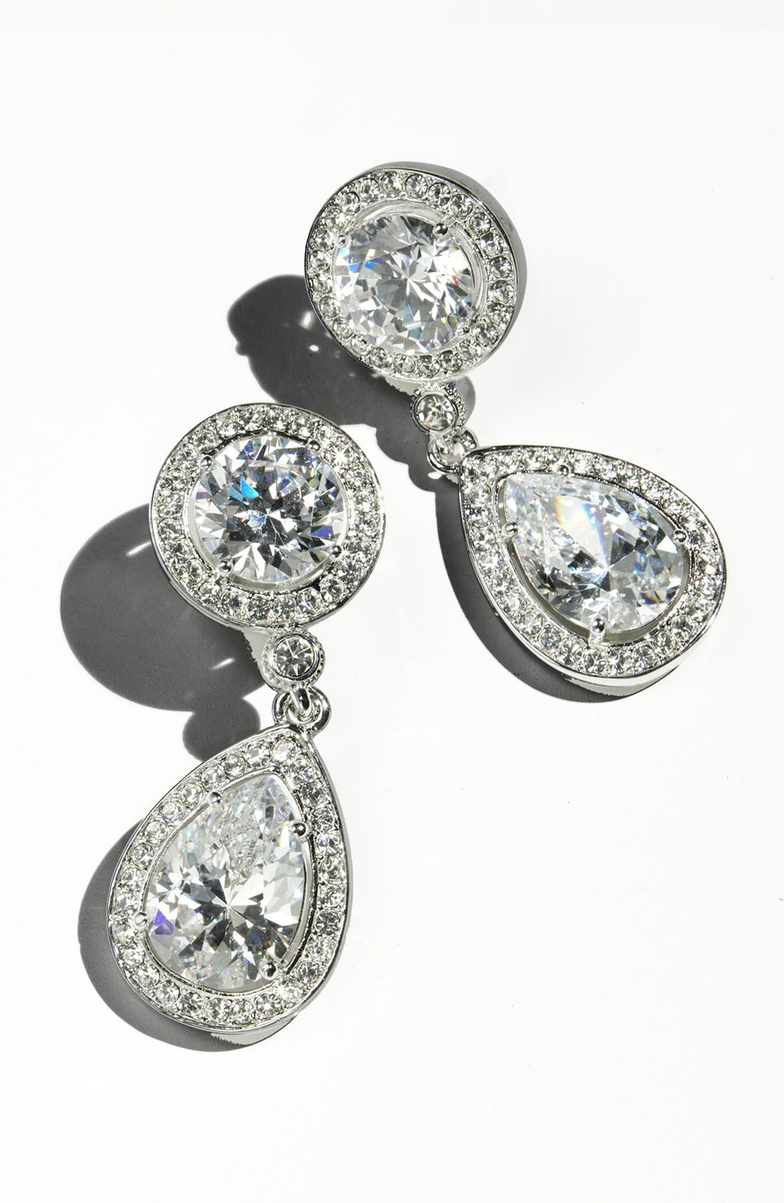 Alternate Image 2  - Nadri Crystal & Cubic Zirconia Drop Earrings (Nordstrom Exclusive)