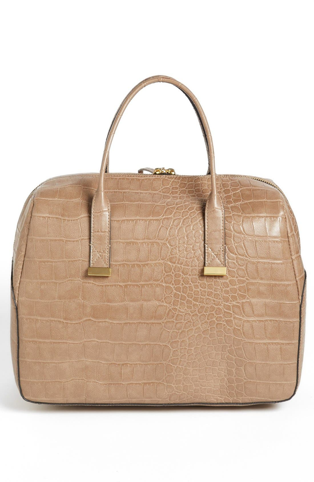 Alternate Image 4  - French Connection 'Animal Mania' Croc Embossed Faux Leather Satchel