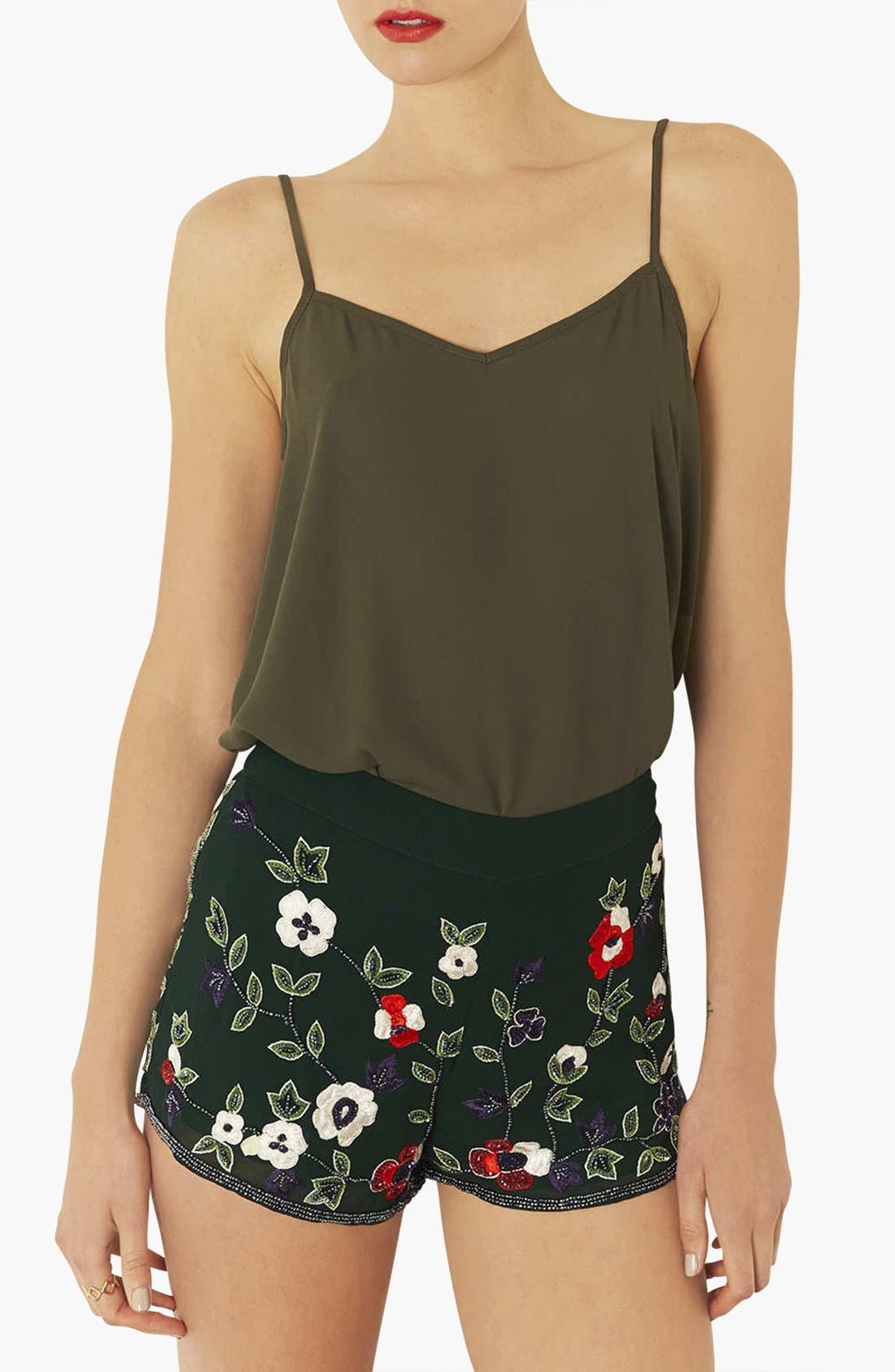 Alternate Image 1 Selected - Topshop 'Pasha' V-Neck Camisole