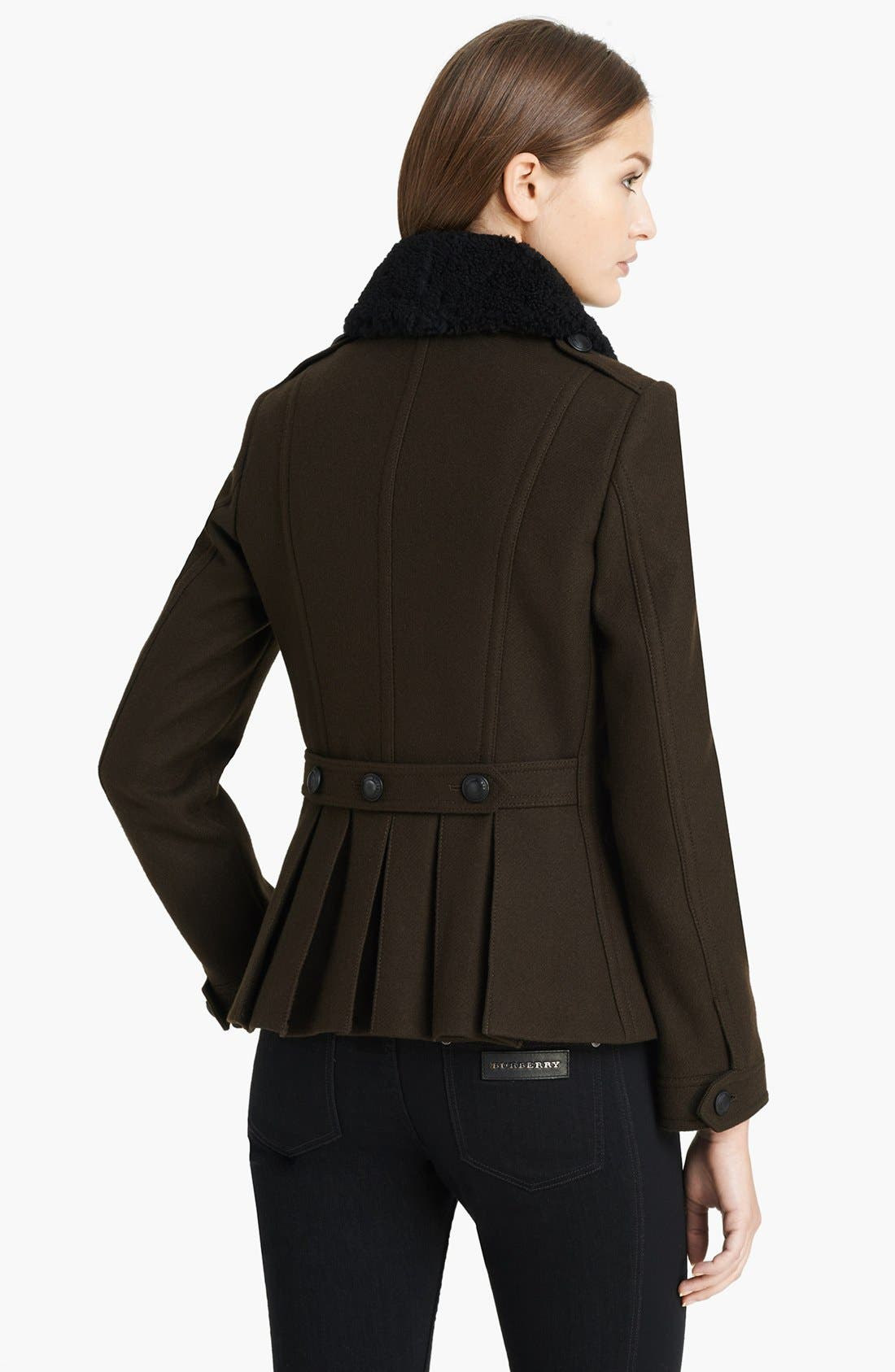 Alternate Image 2  - Burberry Brit 'Warneton' Shearling Collar Coat