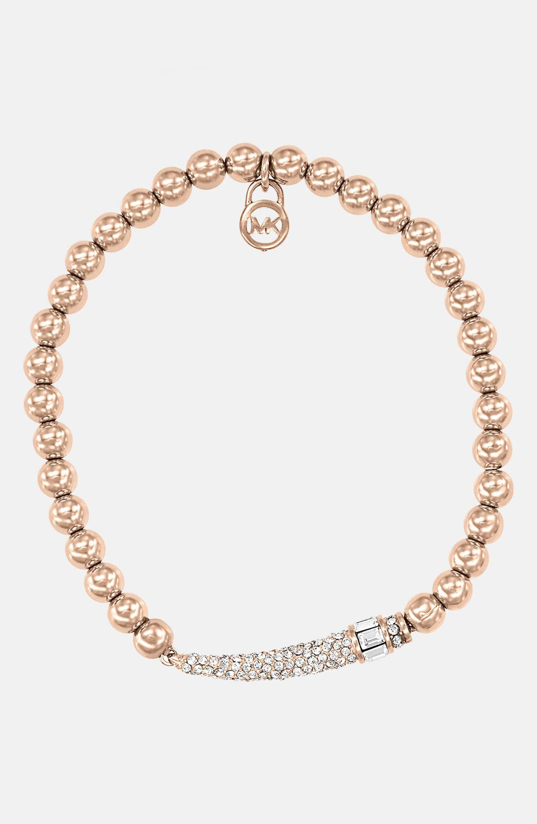 Main Image - Michael Kors 'Modernist Glitz' Pavé Horn Stretch Bracelet