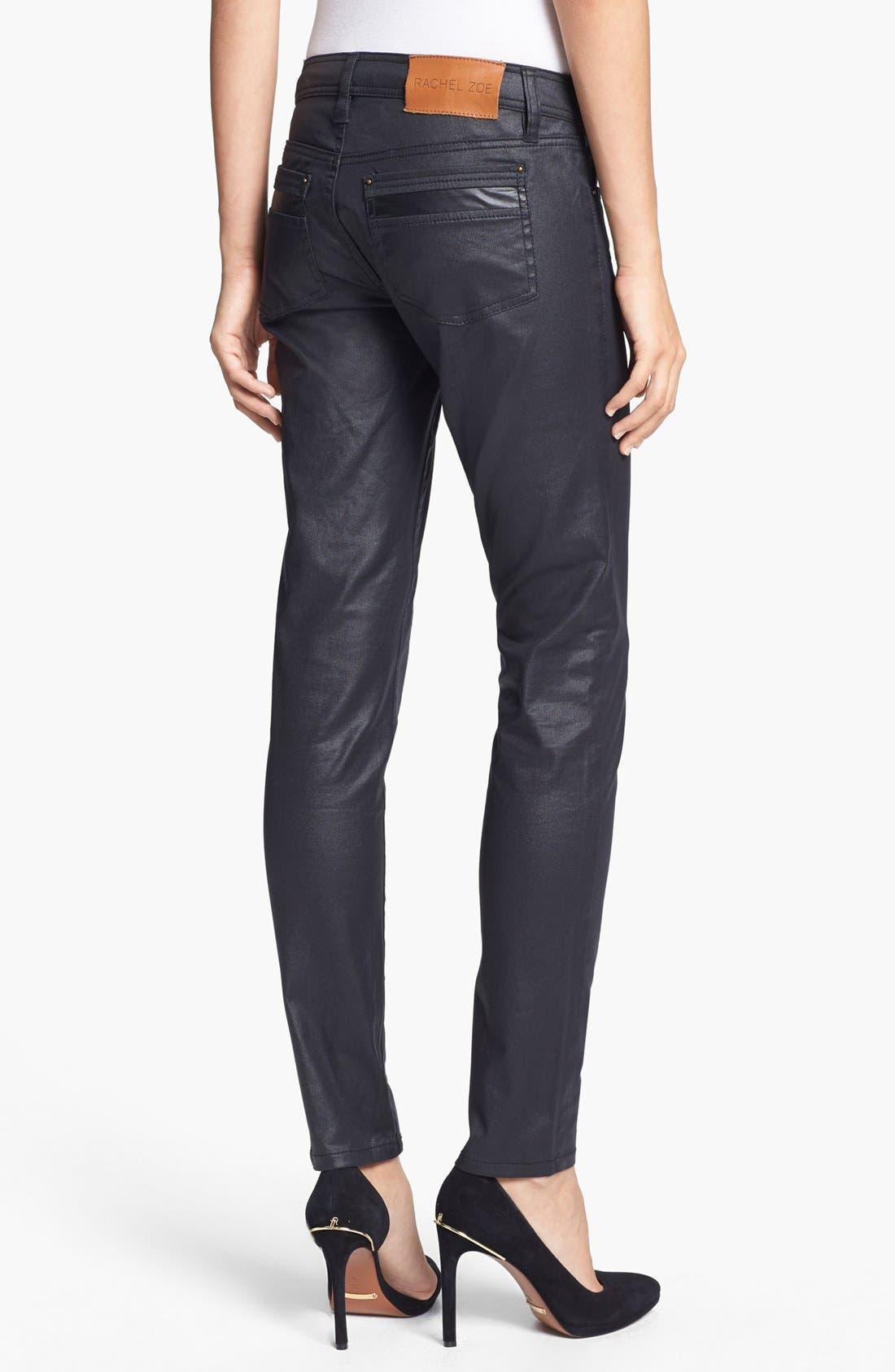 Alternate Image 2  - Rachel Zoe 'Julie' Skinny High Gloss Coated Jeans