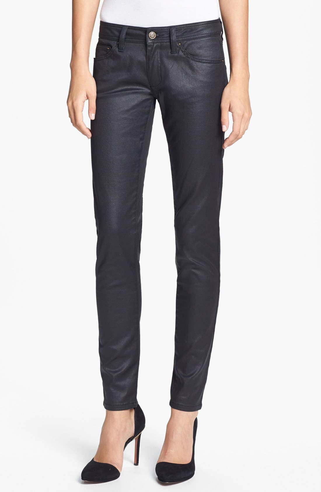 Alternate Image 1 Selected - Rachel Zoe 'Julie' Skinny High Gloss Coated Jeans