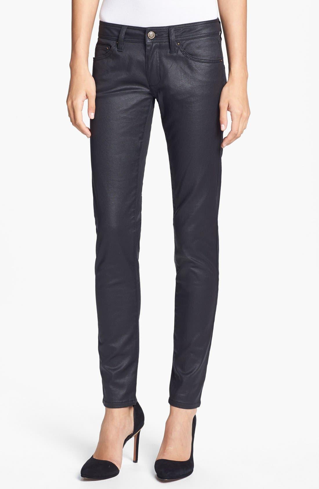 Main Image - Rachel Zoe 'Julie' Skinny High Gloss Coated Jeans