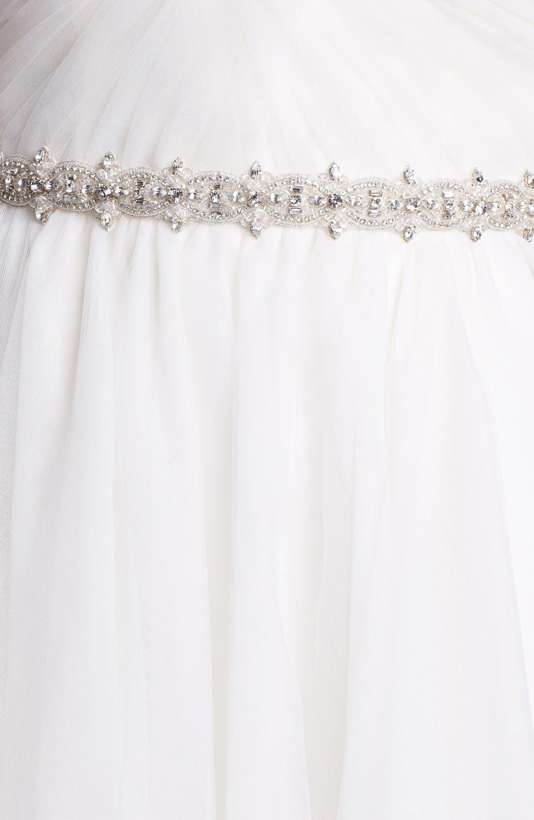 Alternate Image 3  - nouvelle AMSALE Embellished Waist Flared Tulle Gown