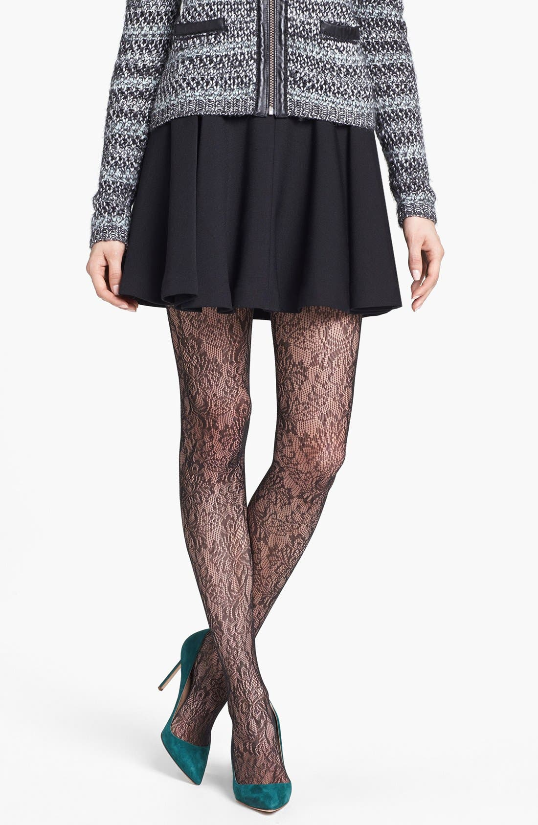 Alternate Image 1 Selected - SPANX® 'Uptown Tight-End Tights® - Look at Me Lace' Tights