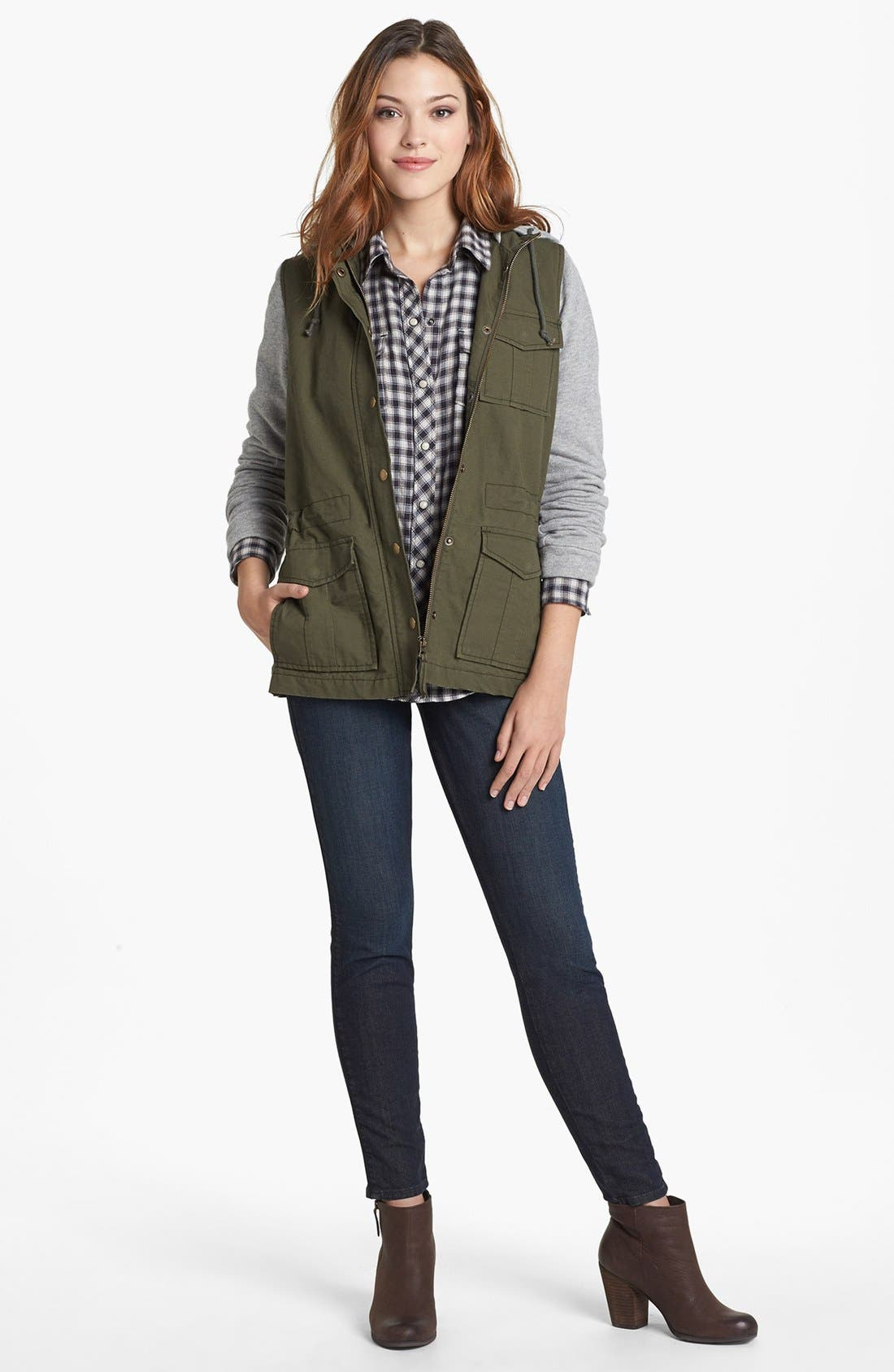 Alternate Image 5  - Lucky Brand 'Sofia' Tuxedo Piped Skinny Jeans (Cullowhee)