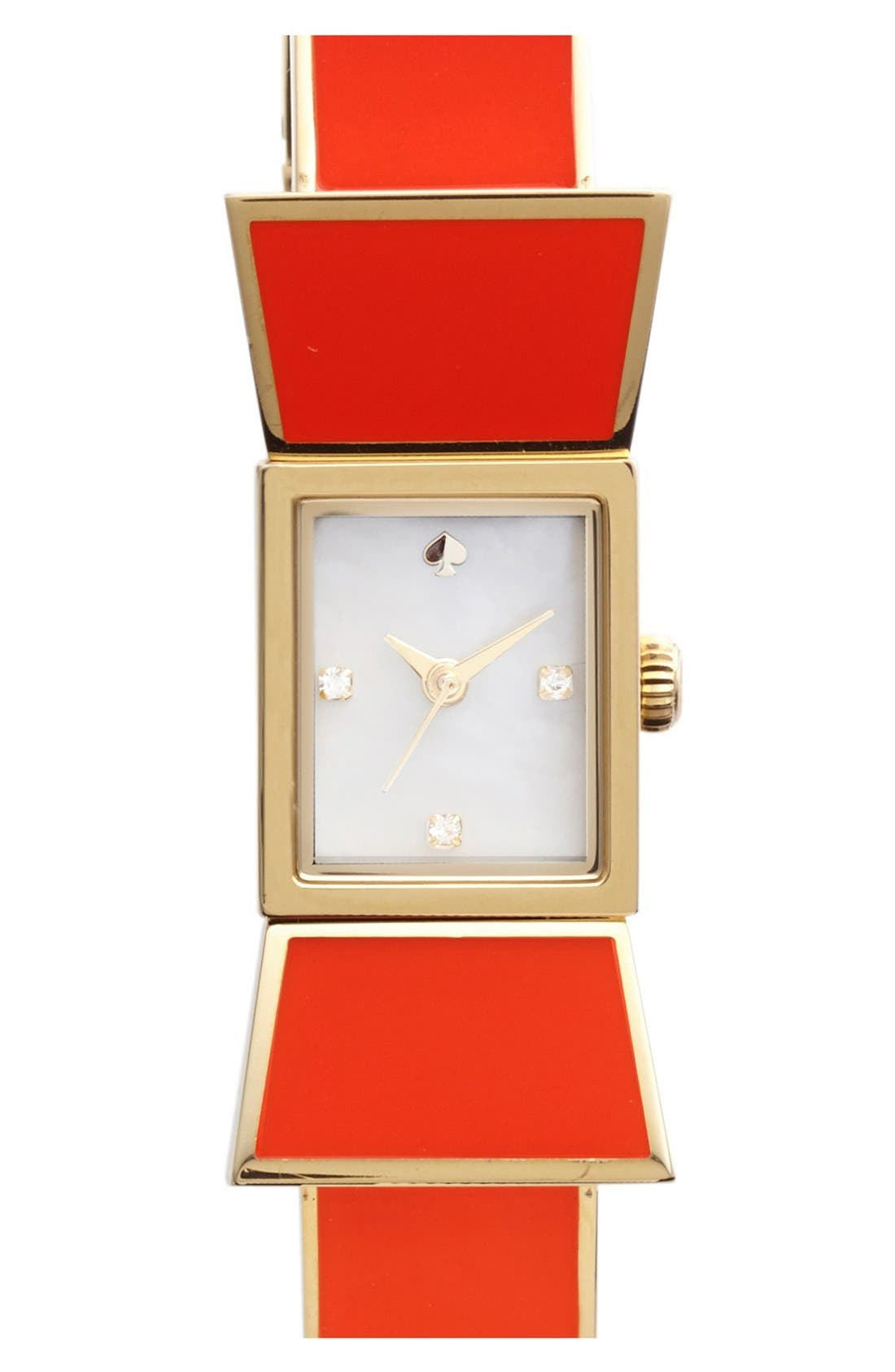 Main Image - kate spade new york 'carlyle' bow bangle watch, 15mm