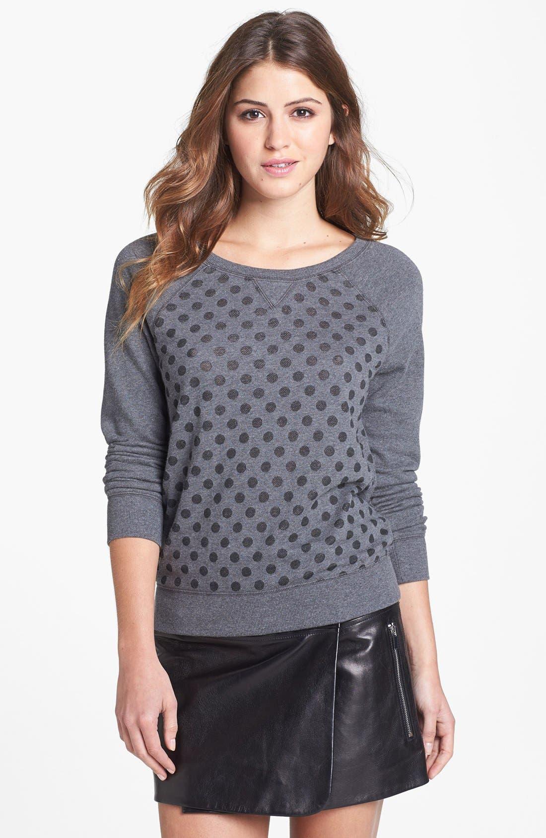 Main Image - Halogen® Burnout Dot Sweatshirt