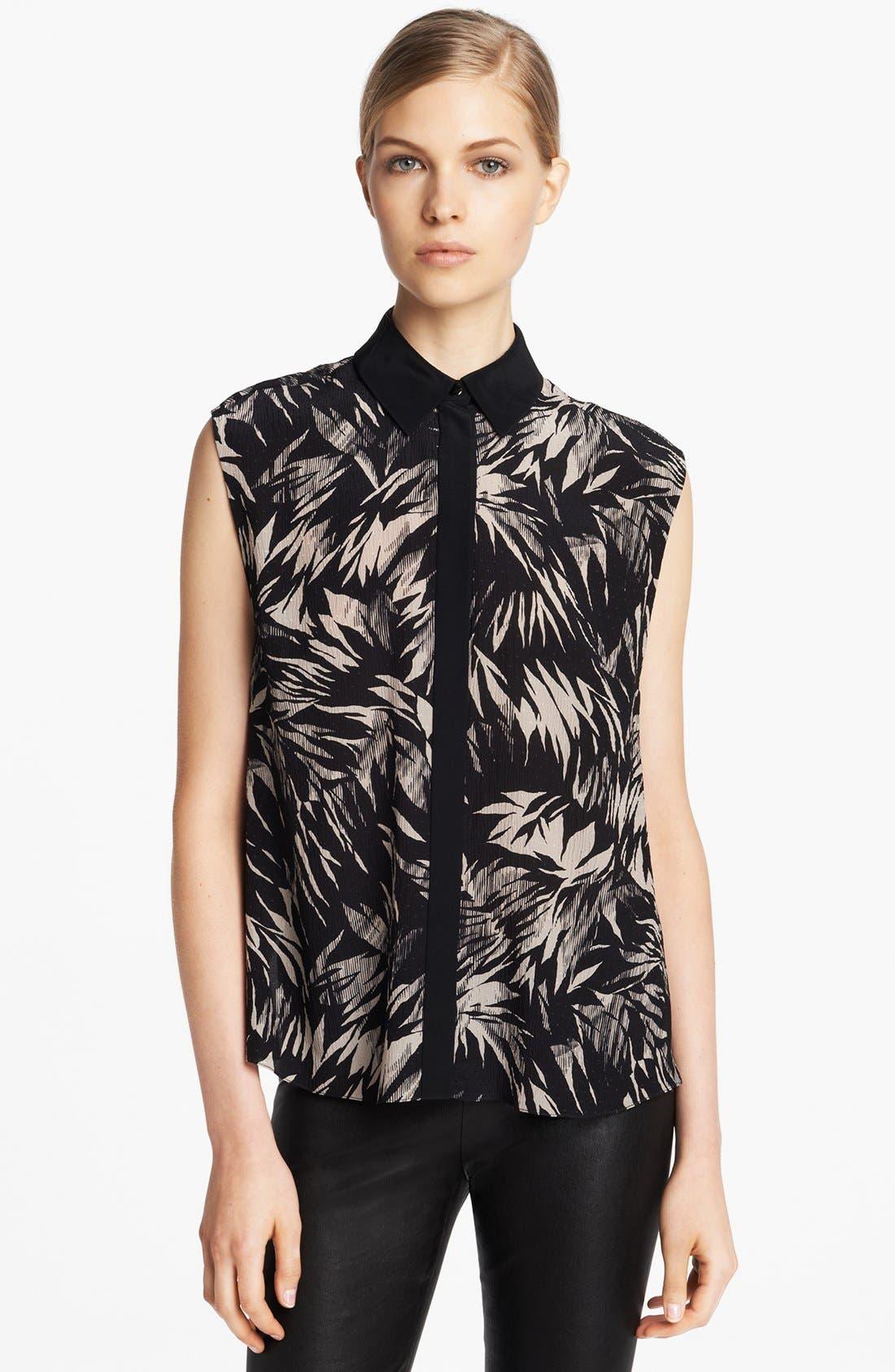 Alternate Image 1 Selected - Jason Wu Botanical Print Crinkle Silk Chiffon Blouse