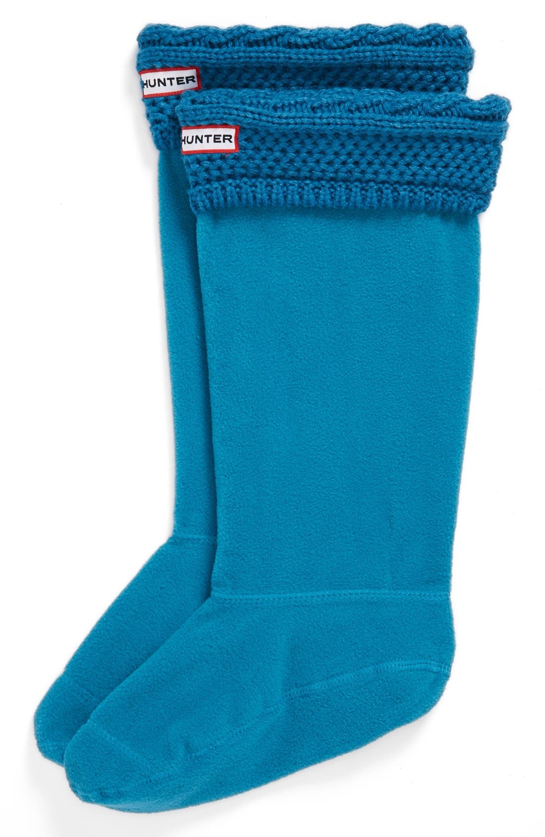 Main Image - Hunter 'Moss Cable' Tall Cuff Welly Socks