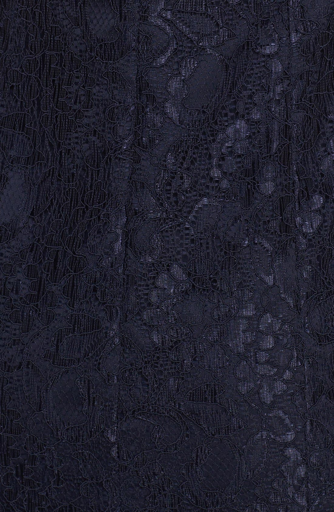 Alternate Image 3  - ML Monique Lhuillier Bridesmaids Ruffle Hem Lace Dress (Nordstrom Exclusive)