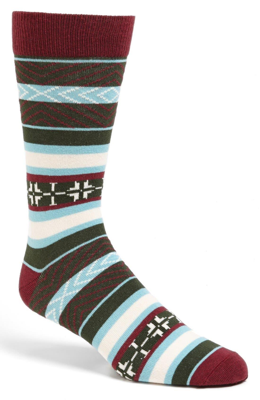 Alternate Image 1 Selected - Pact 'Fair Isle' Crew Socks