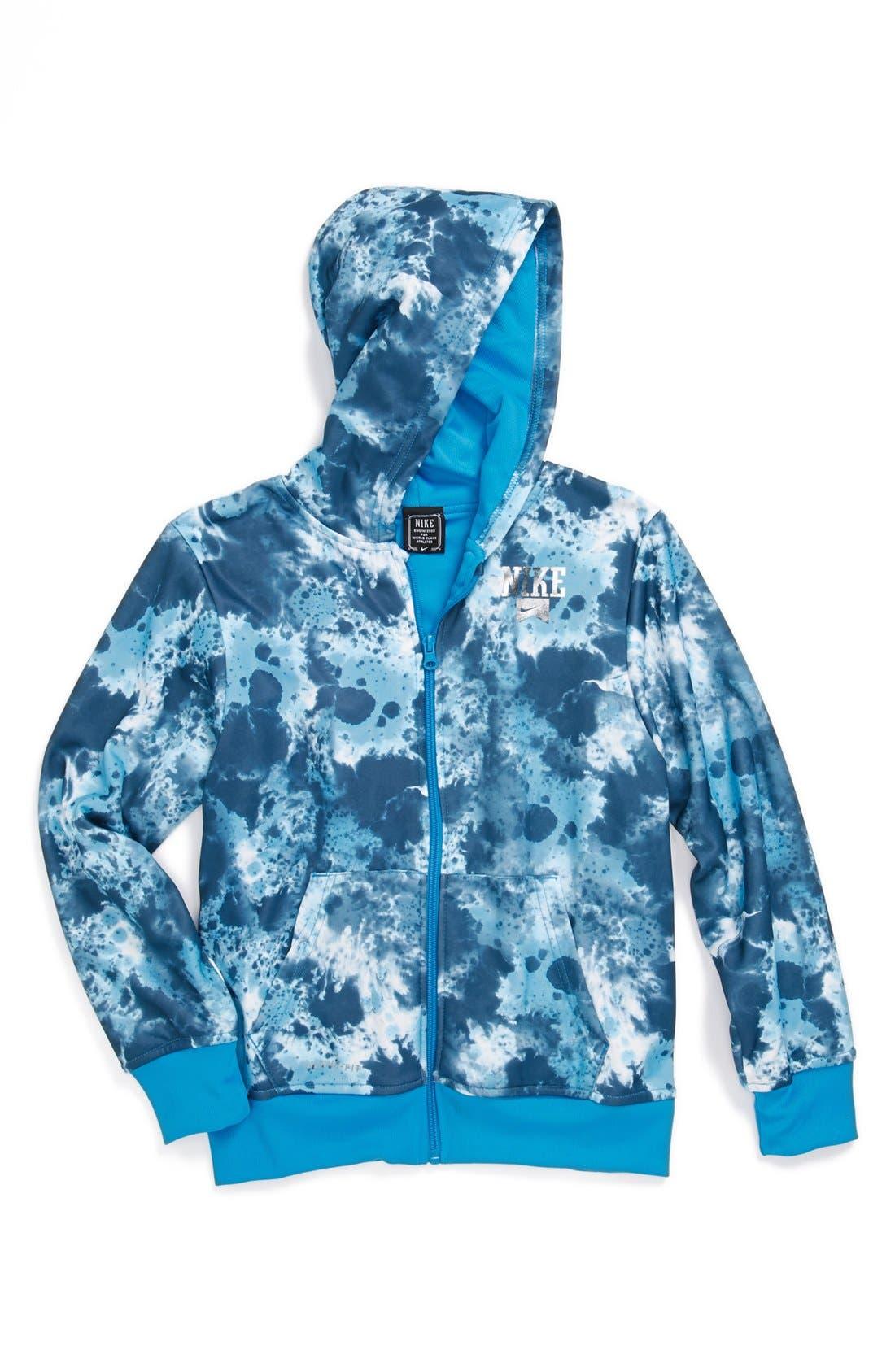 Alternate Image 1 Selected - Nike 'Neckface' Front Zip Hoodie (Big Boys)