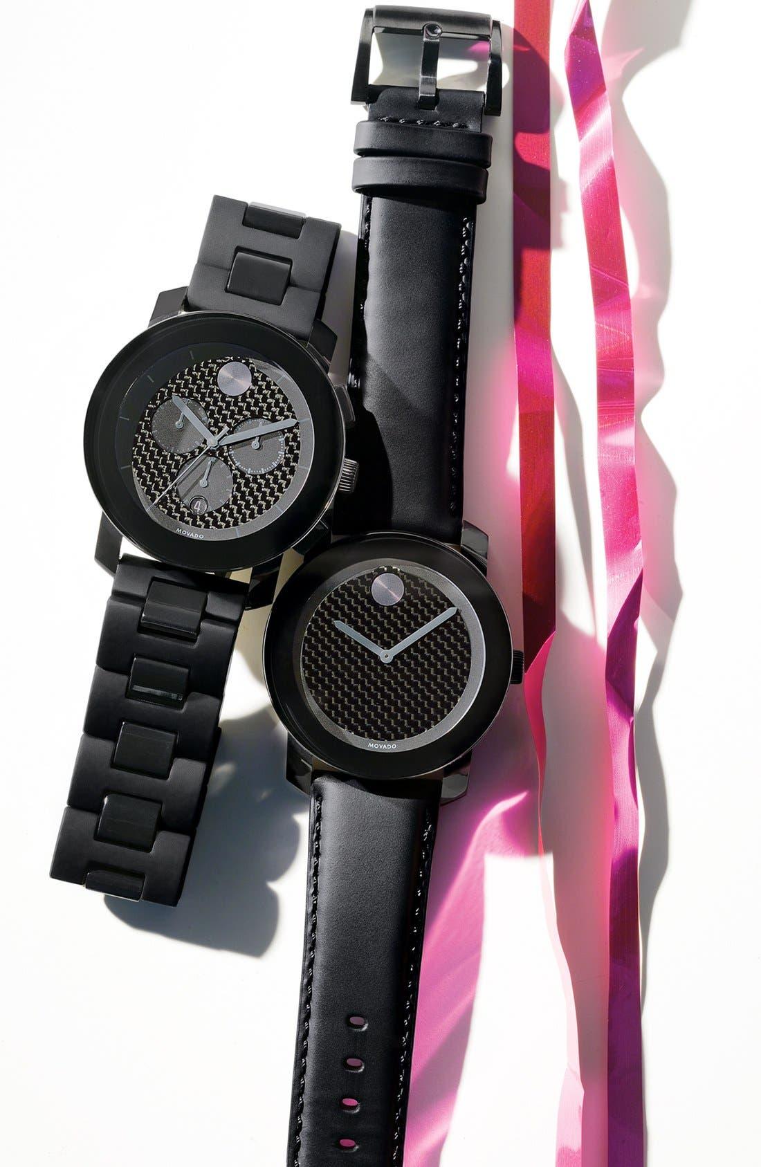 Alternate Image 3  - Movado 'Bold Chrono' Carbon Fiber Dial Watch, 44mm