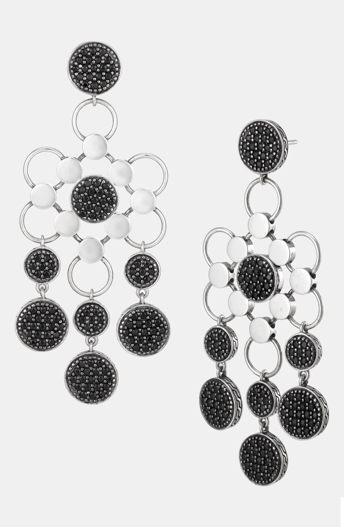 Alternate Image 1 Selected - John Hardy 'Dot Silver Lava' Black Sapphire Chandelier Earrings