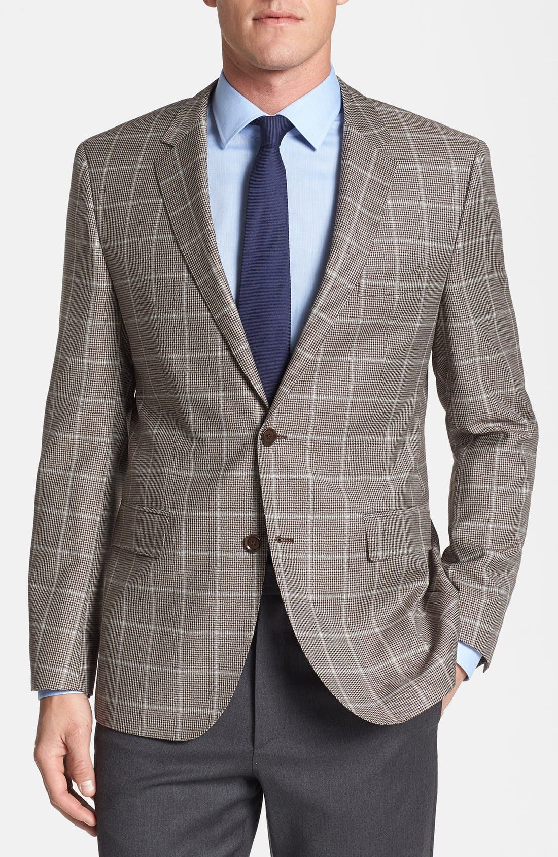 Alternate Image 1 Selected - BOSS HUGO BOSS 'The Smith' Trim Fit Plaid Sportcoat