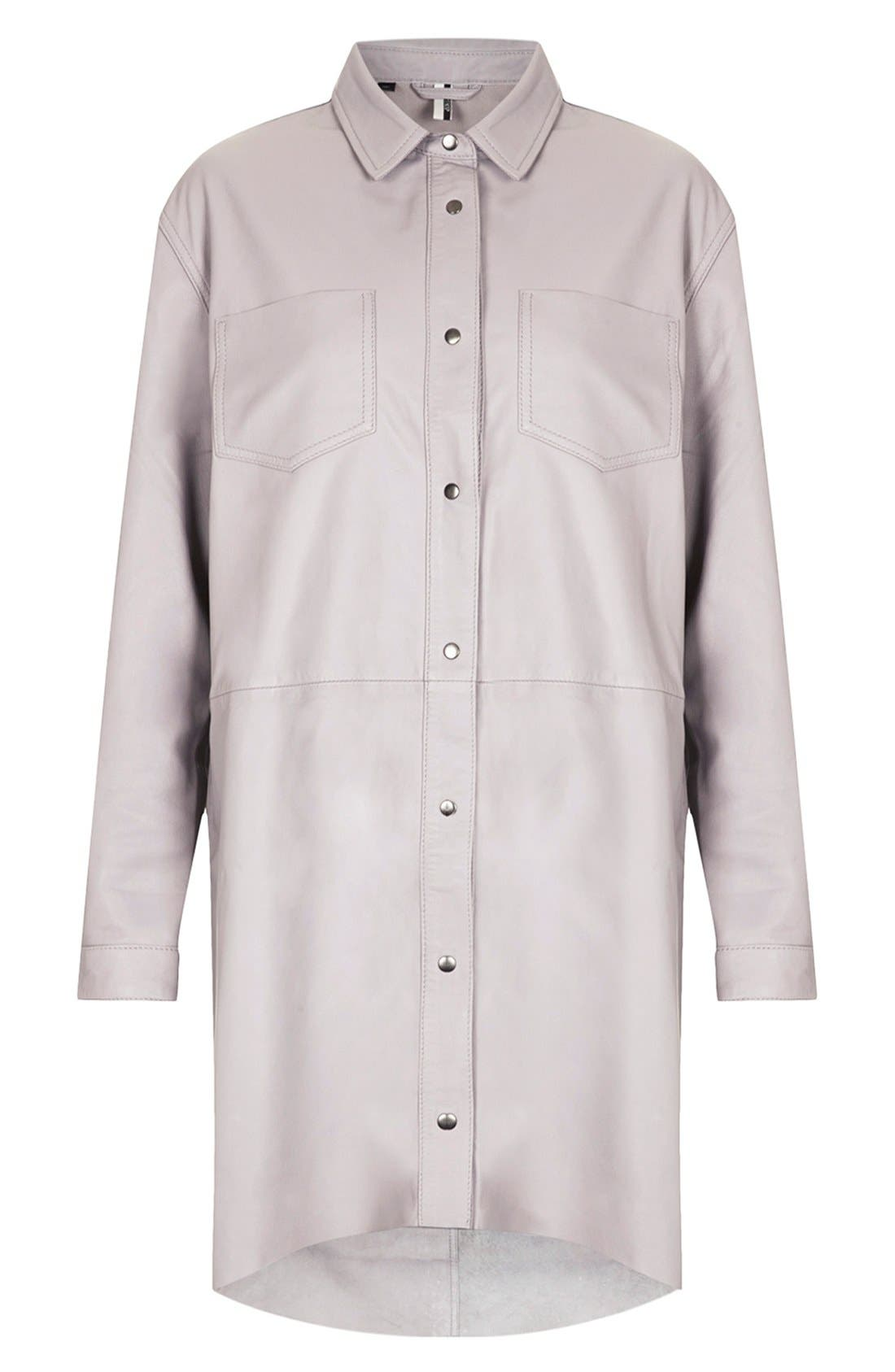 Main Image - Topshop 'The Collection Starring Kate Bosworth' Leather Shirtdress
