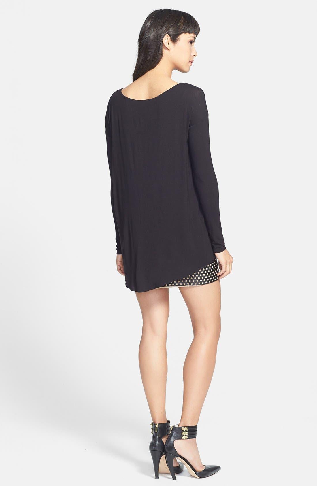 Alternate Image 2  - Bailey 44 'Black Hole' Jersey & Leather Dress