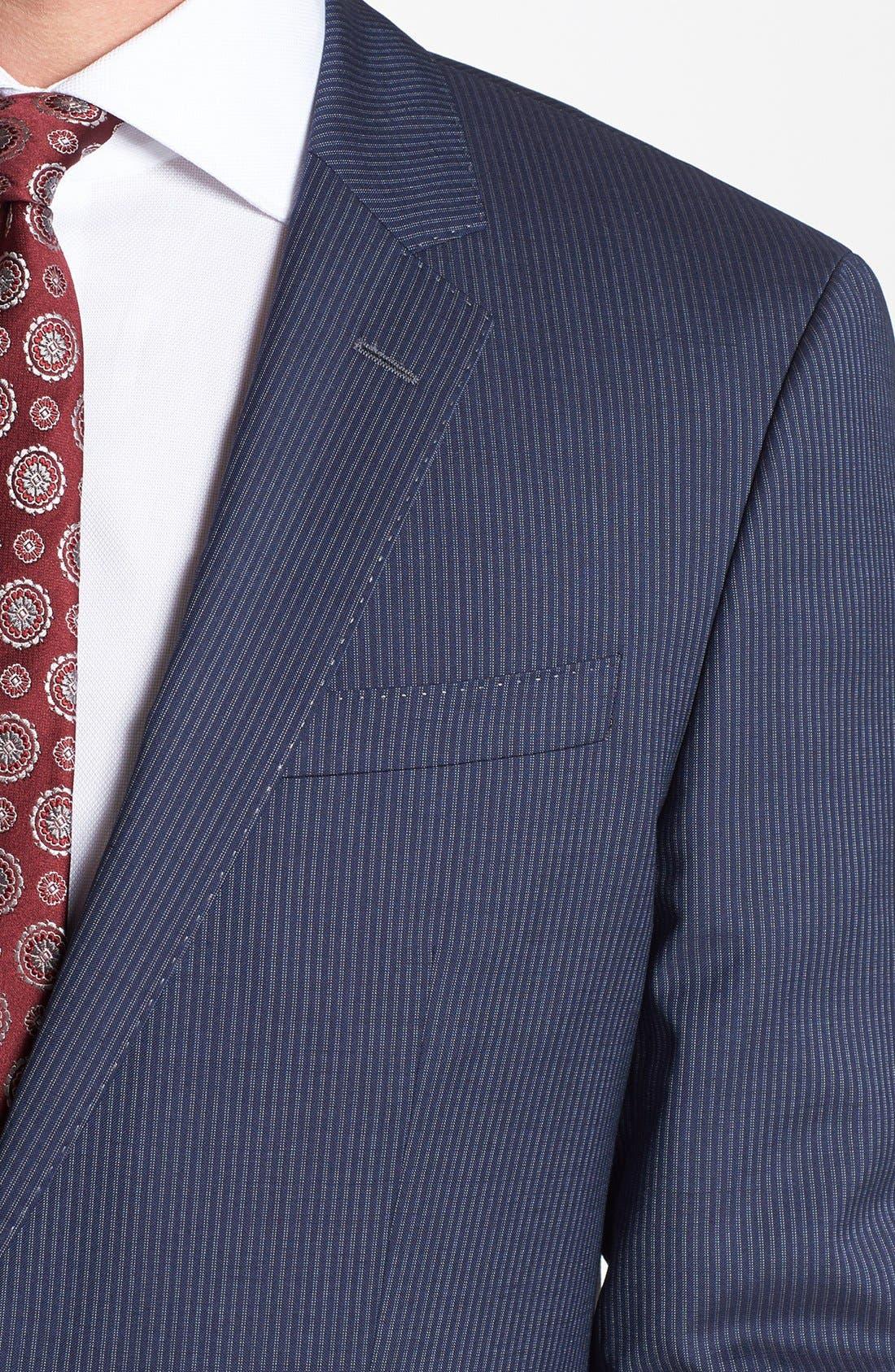 Alternate Image 5  - BOSS HUGO BOSS 'Hutson/Gander' Trim Fit Stripe Suit