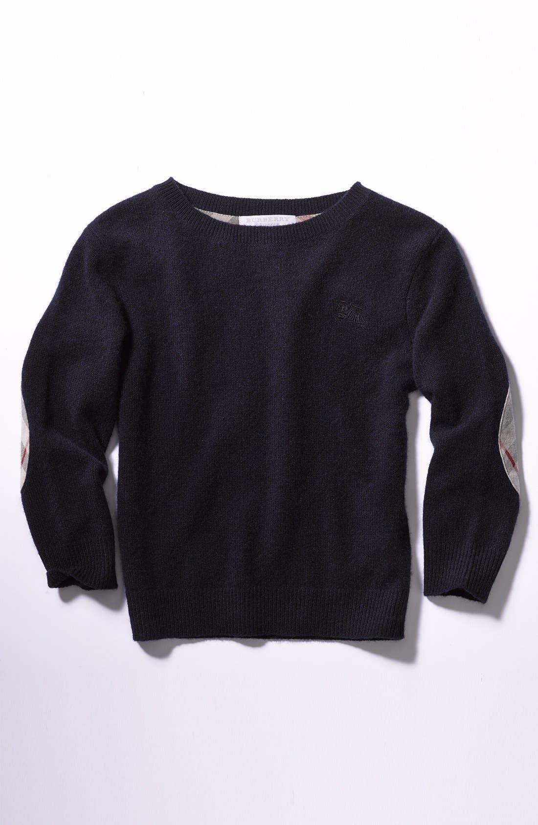 Alternate Image 2  - Burberry Cashmere Sweater (Little Boys & Big Boys)
