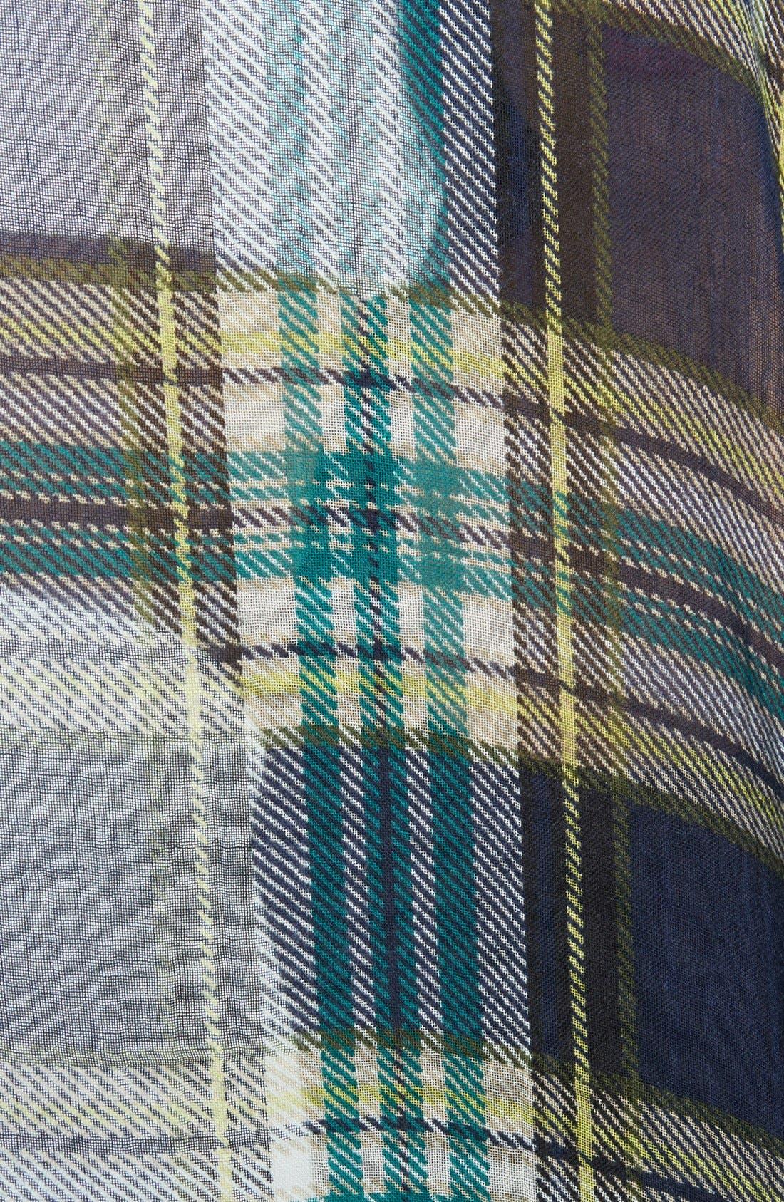 Alternate Image 2  - Lucky Brand Plaid Wool Scarf