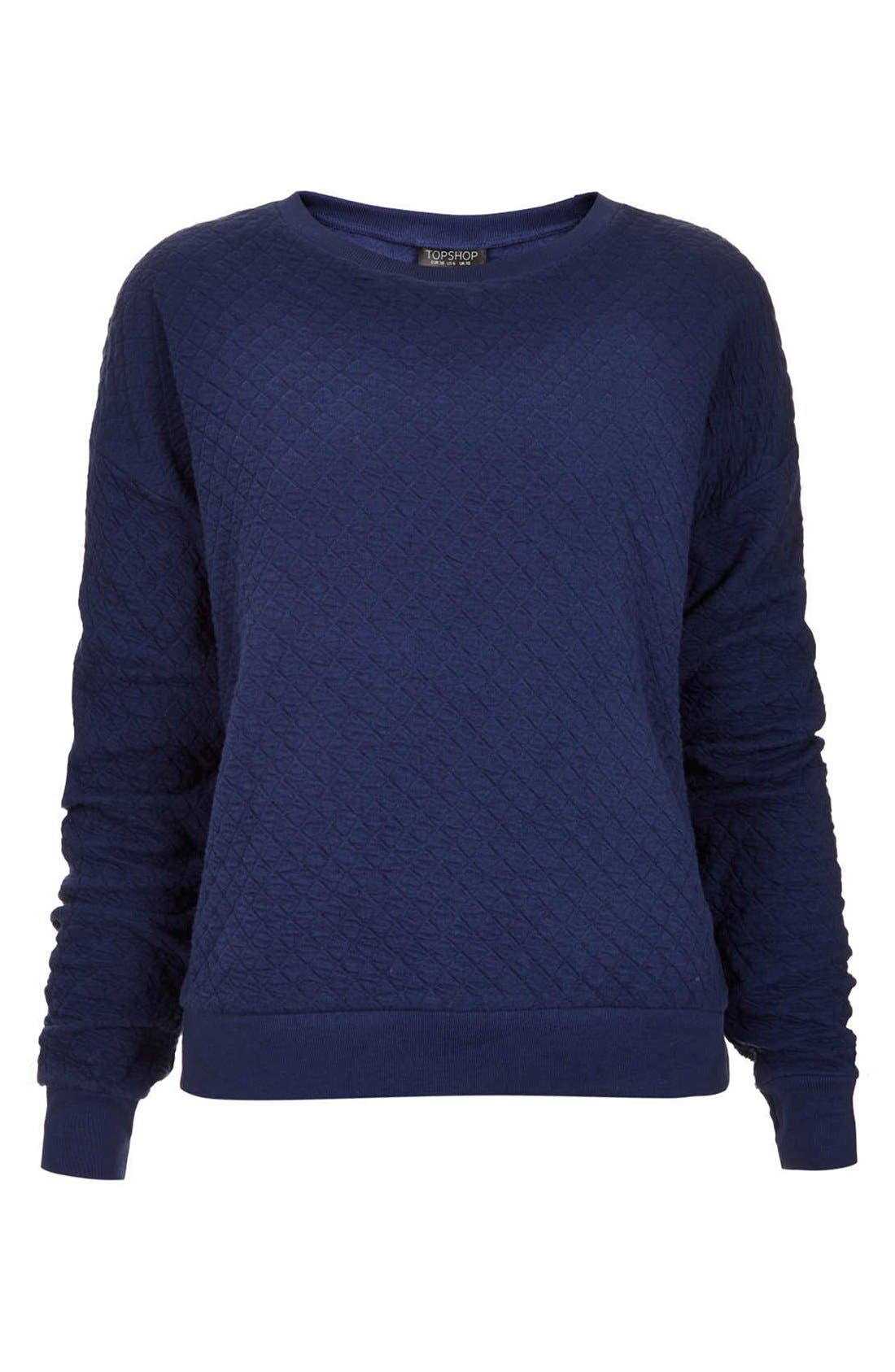 Alternate Image 3  - Topshop Quilted Sweatshirt