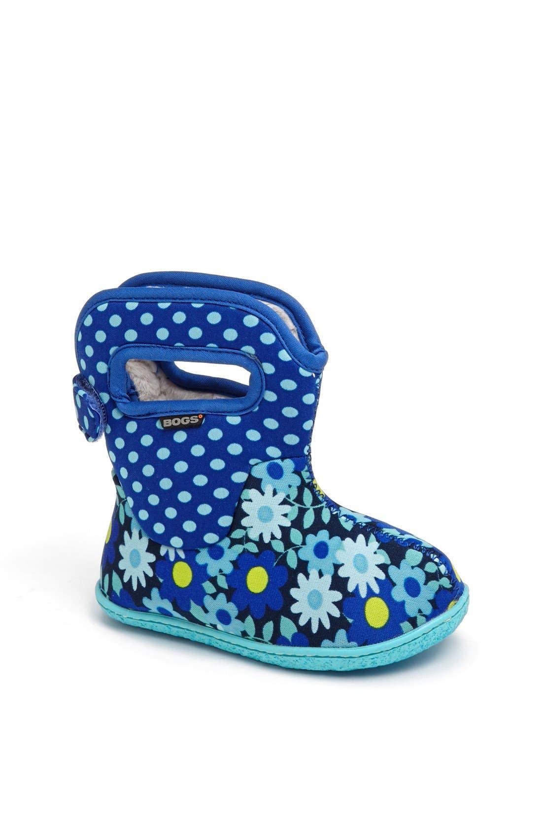 Main Image - Bogs 'Baby Bogs - Daisy Dots' Waterproof Boot (Baby, Walker & Toddler)