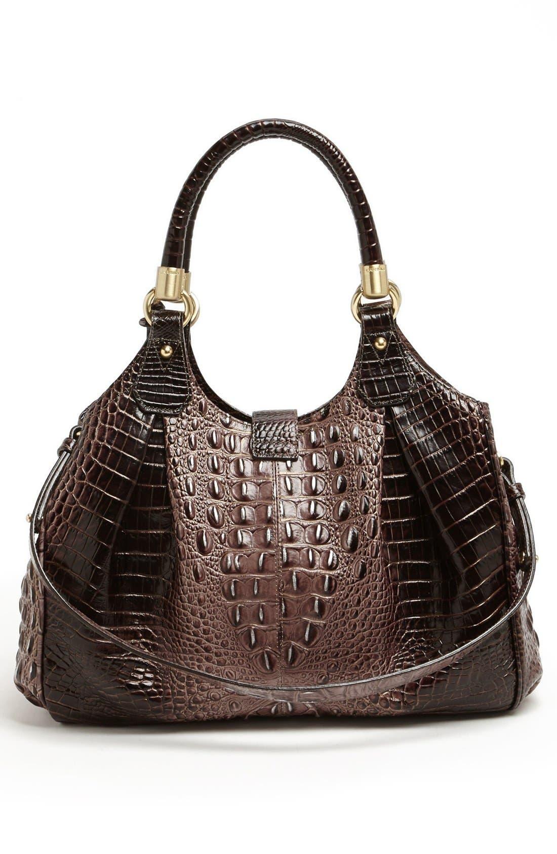 Alternate Image 2  - Brahmin Elisa Croc Embossed Leather Shoulder Bag