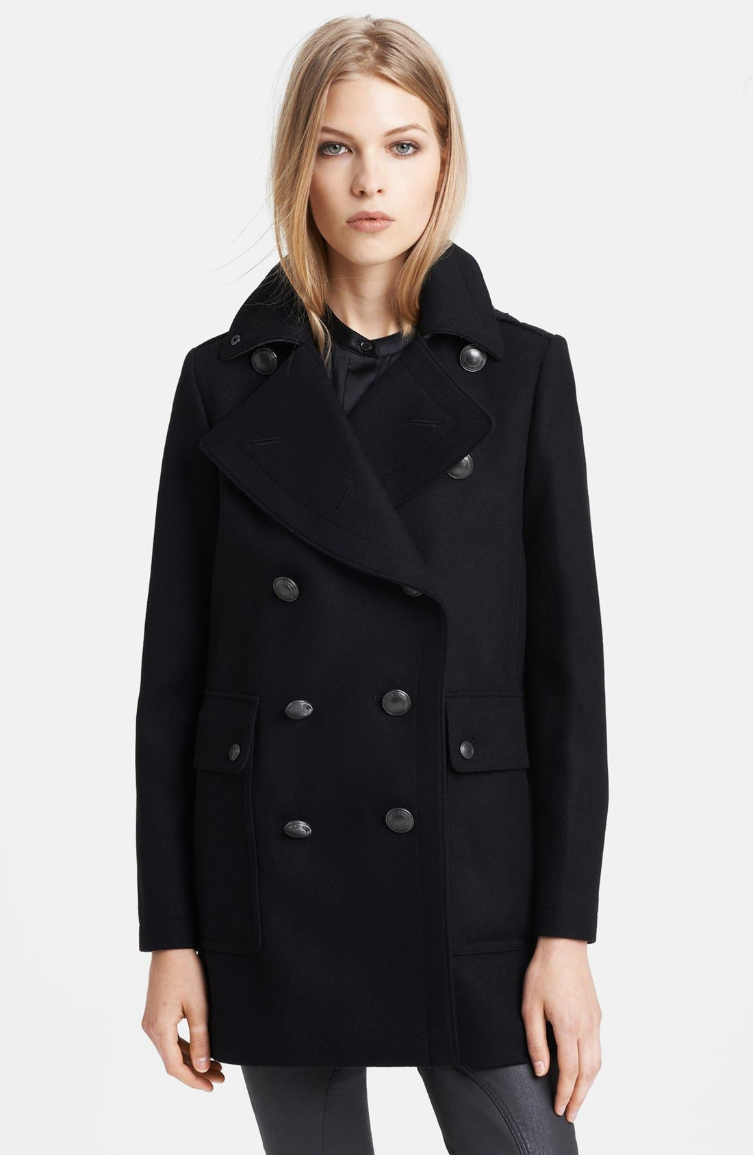 Alternate Image 1 Selected - Burberry Brit 'Bellamy' Double Breasted Peacoat