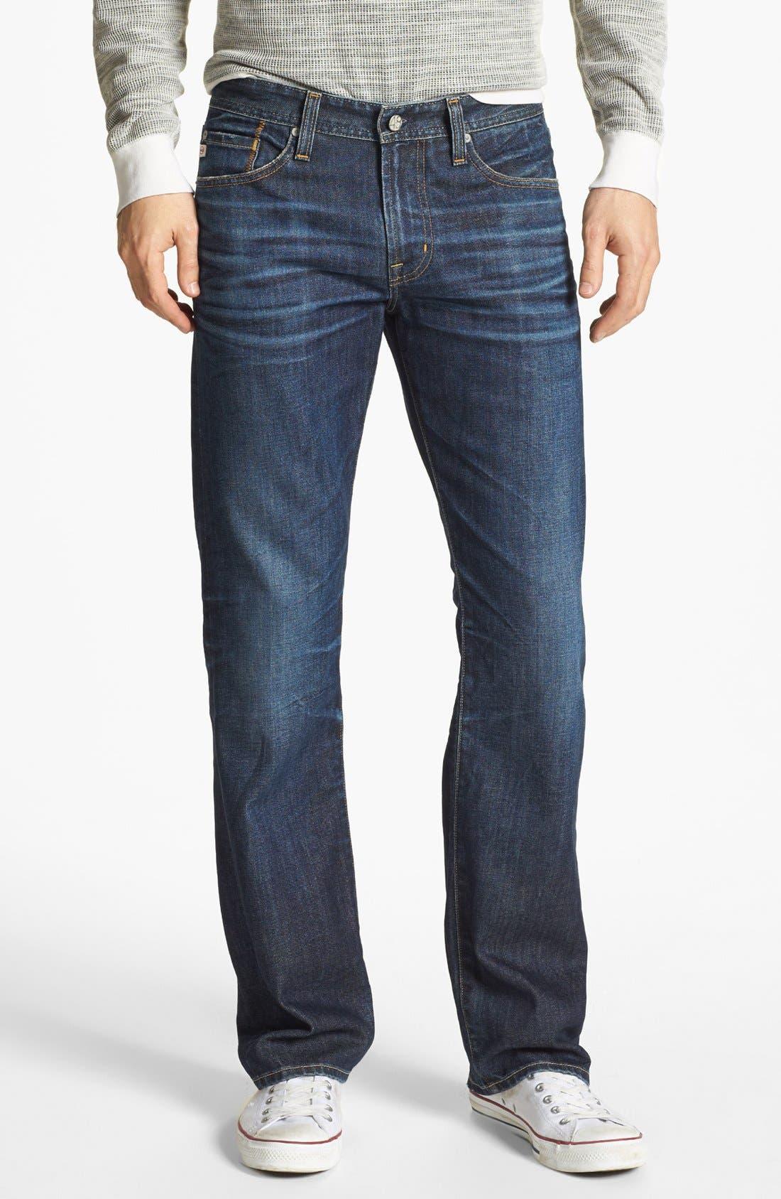 Alternate Image 1 Selected - AG 'Protégé' Straight Leg Jeans (5 Year Lounge)