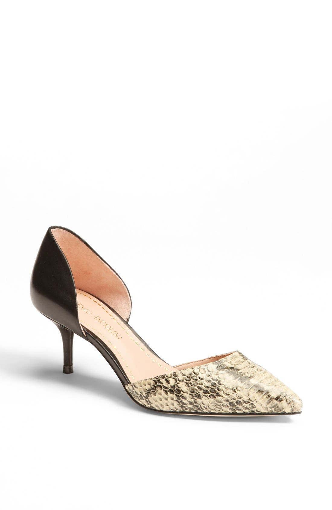 'Gabrino' Pump,                         Main,                         color, Ivory Snake