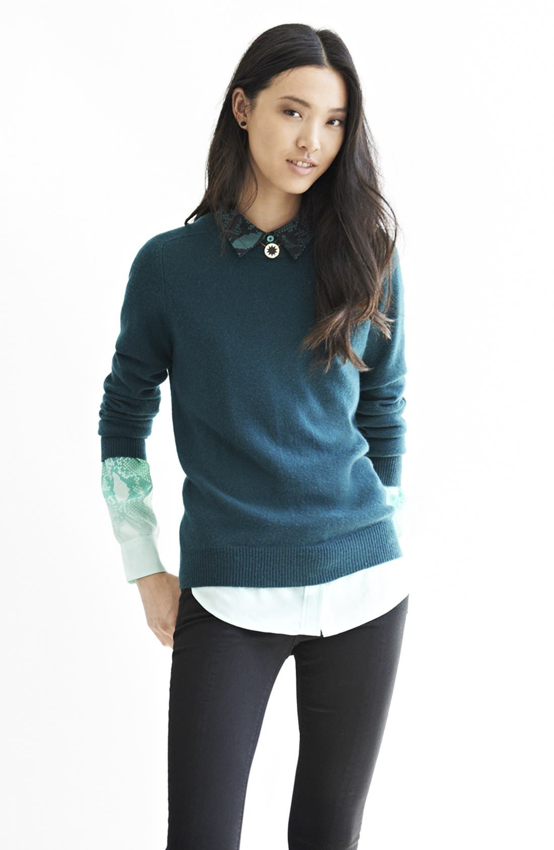 Alternate Image 5  - Equipment 'Slim Signature' Ombré Print Silk Shirt